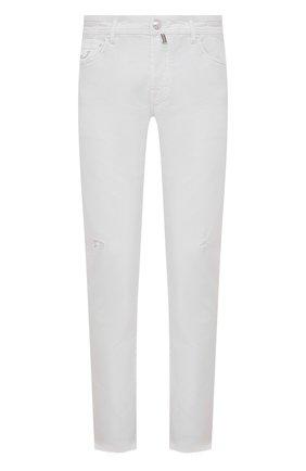 Мужские джинсы JACOB COHEN белого цвета, арт. J622 C0MF 02333-W1/55 | Фото 1 (Кросс-КТ: Деним; Силуэт М (брюки): Прямые; Материал внешний: Хлопок; Стили: Кэжуэл; Длина (брюки, джинсы): Стандартные)