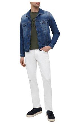 Мужские джинсы JACOB COHEN белого цвета, арт. J622 C0MF 02333-W1/55 | Фото 2 (Кросс-КТ: Деним; Силуэт М (брюки): Прямые; Материал внешний: Хлопок; Стили: Кэжуэл; Длина (брюки, джинсы): Стандартные)