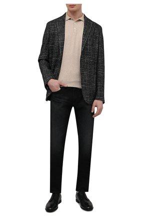 Мужские кожаные дерби PANTANETTI черного цвета, арт. 14454E/CAN0LE | Фото 2
