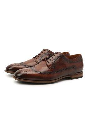Мужские кожаные дерби PANTANETTI коричневого цвета, арт. 14454E/CAN0LE   Фото 1