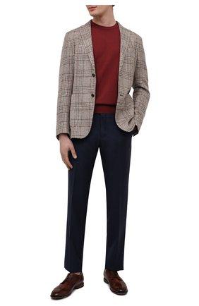 Мужские кожаные дерби PANTANETTI коричневого цвета, арт. 14454E/CAN0LE   Фото 2