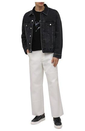 Мужские кожаные кеды frankie GIUSEPPE ZANOTTI DESIGN темно-серого цвета, арт. RU00010/064 | Фото 2