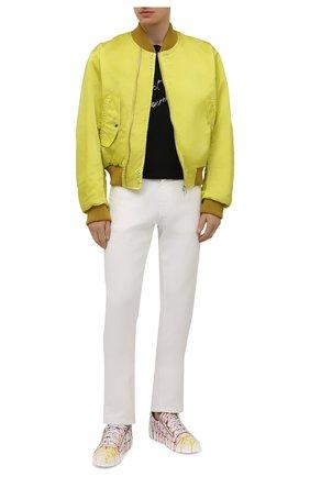 Мужские кожаные кеды frankie GIUSEPPE ZANOTTI DESIGN разноцветного цвета, арт. RM10020/001 | Фото 2