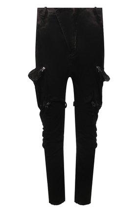 Мужские хлопковые брюки-карго MASNADA черного цвета, арт. M2622   Фото 1