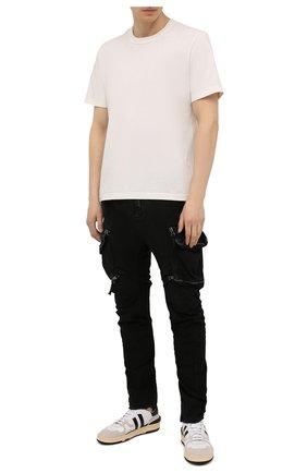 Мужские хлопковые брюки-карго MASNADA черного цвета, арт. M2622   Фото 2