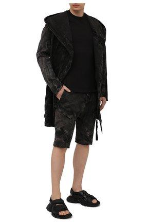 Мужские хлопковые шорты MASNADA темно-коричневого цвета, арт. M2624   Фото 2