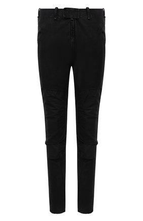 Мужские хлопковые брюки MASNADA черного цвета, арт. M2642D   Фото 1