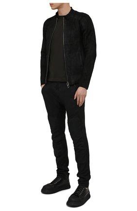 Мужские хлопковые брюки MASNADA черного цвета, арт. M2642D   Фото 2