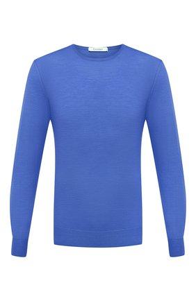 Мужской шерстяной джемпер CRUCIANI синего цвета, арт. CU26.200 | Фото 1