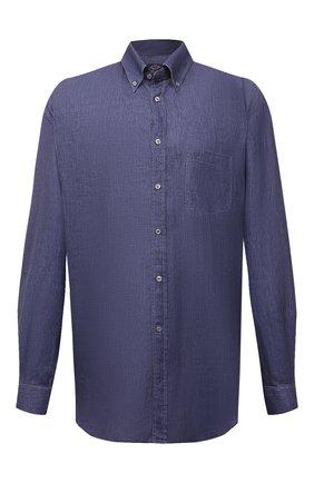 Мужская льняная рубашка PAUL&SHARK синего цвета, арт. 21413030/F7E/48-50   Фото 1