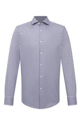 Мужская хлопковая сорочка BOSS темно-синего цвета, арт. 50450932 | Фото 1