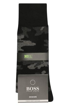 Мужские хлопковые носки BOSS темно-серого цвета, арт. 50449370   Фото 1