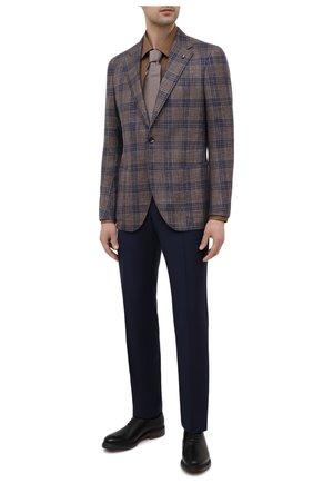 Мужская хлопковая сорочка BOSS коричневого цвета, арт. 50440261 | Фото 2