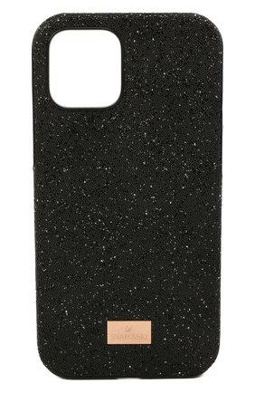 Чехол для iphone 12/12 pro SWAROVSKI черного цвета, арт. 5565185 | Фото 1