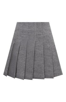 Женская юбка из хлопка и льна 404 NOT FOUND   серого цвета, арт. 700504   Фото 1