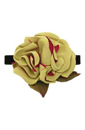 Женское текстильный чокер DOLCE & GABBANA светло-зеленого цвета, арт. FT050R/GER87   Фото 1