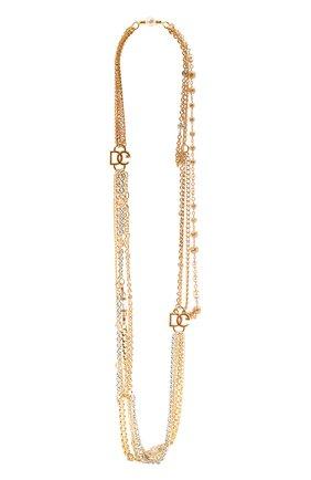 Женское колье DOLCE & GABBANA золотого цвета, арт. WNN4L1/W1111   Фото 1