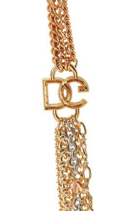 Женское колье DOLCE & GABBANA золотого цвета, арт. WNN4L1/W1111   Фото 2