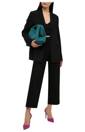 Женские текстильные туфли ALEXANDRE VAUTHIER фуксия цвета, арт. ALEXCRYSTALPU | Фото 2