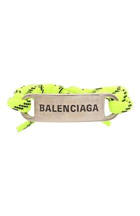 Женский браслет BALENCIAGA салатового цвета, арт. 656418/TZX4S | Фото 1
