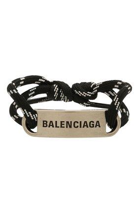 Женский браслет BALENCIAGA черного цвета, арт. 656418/TZX4S | Фото 1