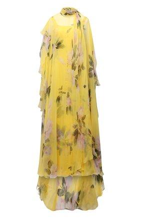Женское шелковое платье VALENTINO желтого цвета, арт. VB0VDBY06DM   Фото 1