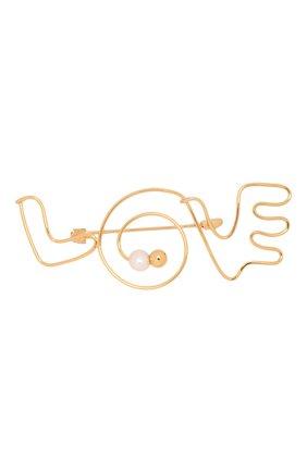 Женская брошь MARNI золотого цвета, арт. SPMV0093A0/M2000 | Фото 1