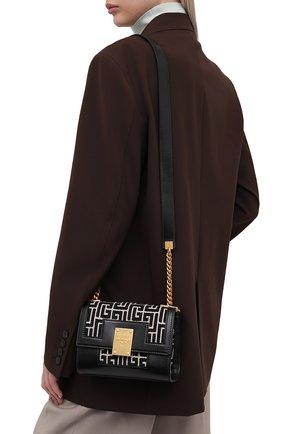 Женская сумка 1945 small BALMAIN черно-белого цвета, арт. WN1BJ651/TJGH | Фото 2