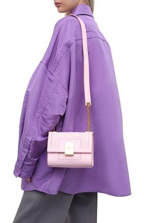 Женская сумка 1945 small BALMAIN светло-розового цвета, арт. WN1BJ651/TJGH | Фото 2