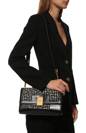Женская сумка 1945 medium BALMAIN черно-белого цвета, арт. WN1BK652/TJGH | Фото 2