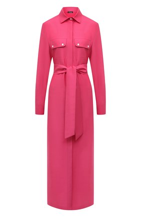 Женское платье из хлопка и льна KITON розового цвета, арт. D51381H07724 | Фото 1