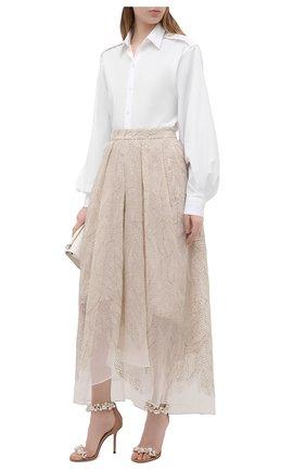 Женские кожаные босоножки maisel 100 JIMMY CHOO бежевого цвета, арт. MAISEL 100/XPX | Фото 2
