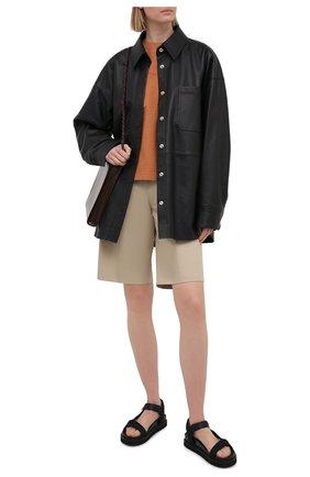 Женские текстильные сандалии flavia MONCLER черного цвета, арт. G1-09B-4L711-00-02SS1   Фото 2