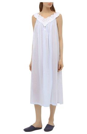 Женская хлопковая сорочка CELESTINE голубого цвета, арт. 10002670/AMINA-1 NG | Фото 2