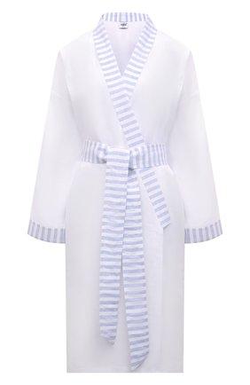 Женский льняной халат CELESTINE голубого цвета, арт. 70000749/ANC0NA KIM0N0 | Фото 1