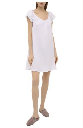 Женская льняная сорочка CELESTINE белого цвета, арт. 30002681/CLAUDINE BD | Фото 2
