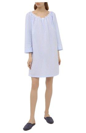 Женская хлопковая сорочка CELESTINE голубого цвета, арт. 20000789/RIALT0 SHIRT | Фото 2