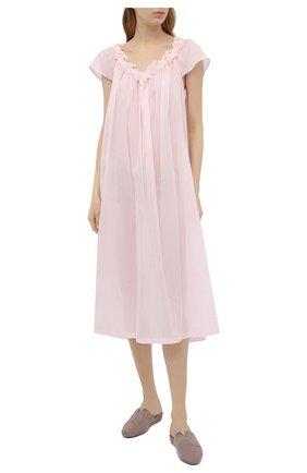 Женская хлопковая сорочка CELESTINE розового цвета, арт. 10002683/VICKY-2 NG | Фото 2