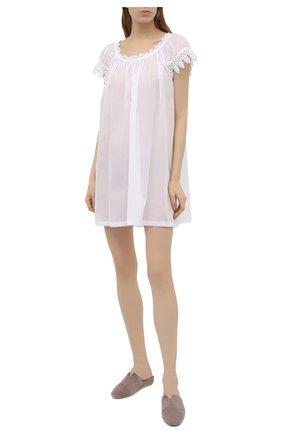 Женская хлопковая сорочка CELESTINE белого цвета, арт. 30002692/YVETTE-2 BD | Фото 2