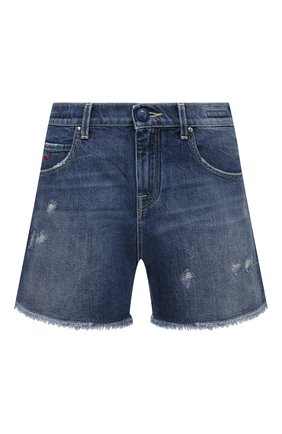 Женские джинсовые шорты JACOB COHEN синего цвета, арт. GWEN F 02134-W2/55 | Фото 1 (Кросс-КТ: Деним; Женское Кросс-КТ: Шорты-одежда; Стили: Кэжуэл; Длина Ж (юбки, платья, шорты): Мини; Материал внешний: Хлопок)