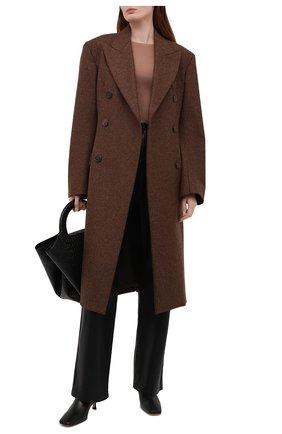 Женский шелковый пуловер JOSEPH бежевого цвета, арт. JF004762   Фото 2