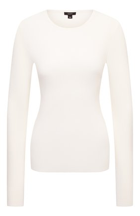 Женский шелковый пуловер JOSEPH белого цвета, арт. JF004762 | Фото 1