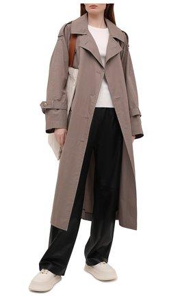 Женский шелковый пуловер JOSEPH белого цвета, арт. JF004762   Фото 2