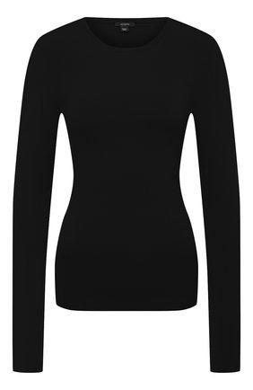 Женский шелковый пуловер JOSEPH черного цвета, арт. JF004762 | Фото 1