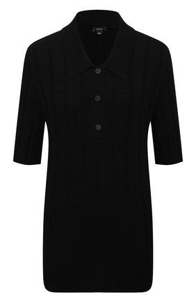 Женское поло из вискозы JOSEPH черного цвета, арт. JF005330   Фото 1