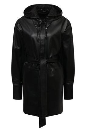 Женская кожаная куртка JOSEPH черного цвета, арт. JF005262 | Фото 1