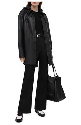 Женская кожаная куртка JOSEPH черного цвета, арт. JF005262 | Фото 2