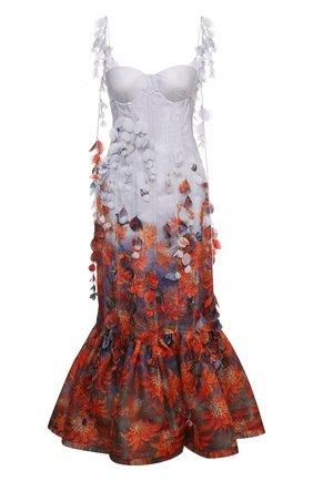 Женское платье из льна и шелка ZIMMERMANN разноцветного цвета, арт. 1718DB0T   Фото 1