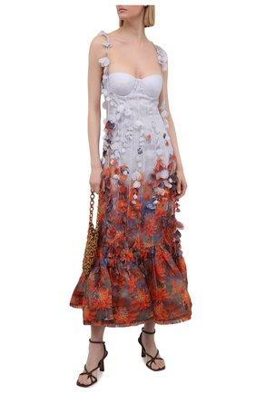 Женское платье из льна и шелка ZIMMERMANN разноцветного цвета, арт. 1718DB0T   Фото 2