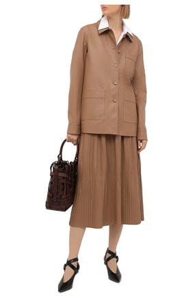 Женский кожаный жакет GABRIELA HEARST бежевого цвета, арт. 221505 L018 | Фото 2